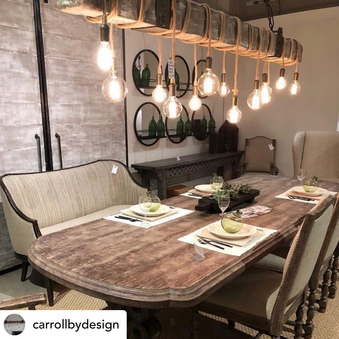 Carroll by Design Wedgewood Chandelier Lifestyle Dining Room