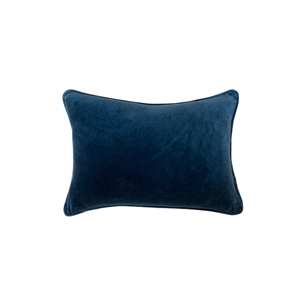Cobalt Blue Velvet Pillow from Laura Park Designs, lumbar