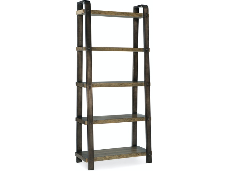 Carfted Bookcase in oak veneer and aluminum sheet from Hooker Furniture product image