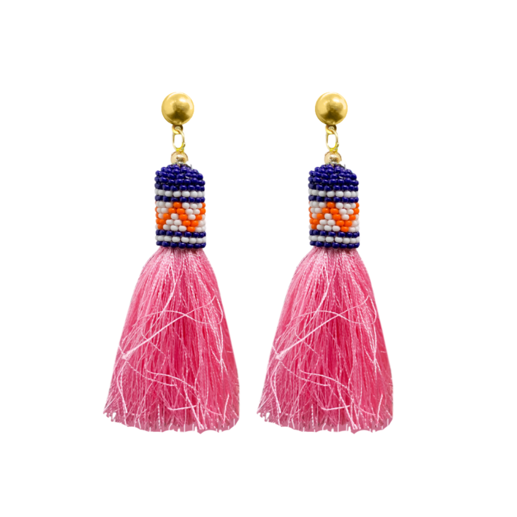 Brooks Avenue Navy Tassel Earrings from Laura Park Designs