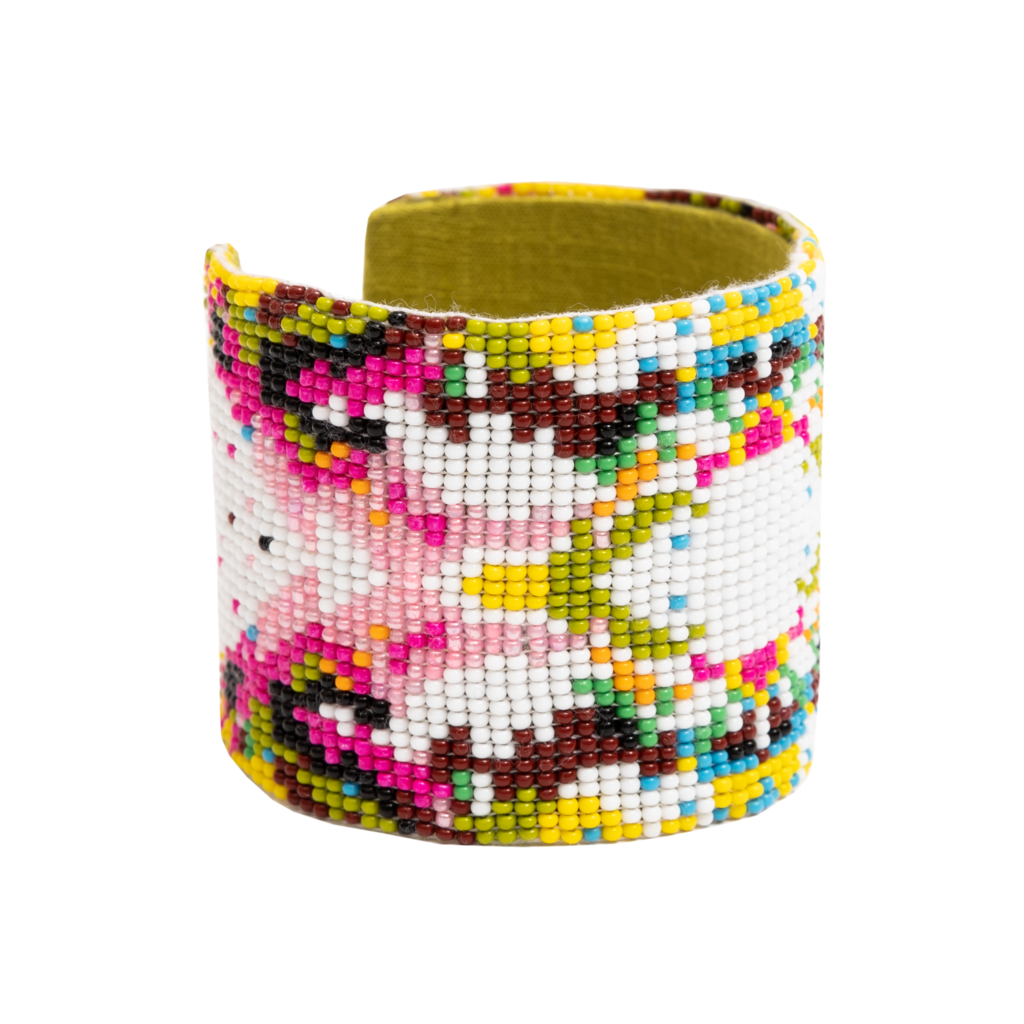 Wild Thing Beaded Cuff Bracelet from Laura Park Designs in a variety of colors