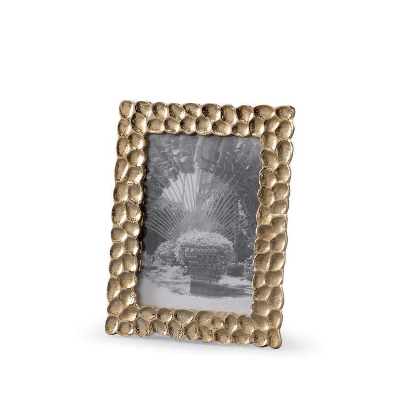 Thumbprints Photo Frame 5x8 Wildwood Cast Aluminum Ambered Silver