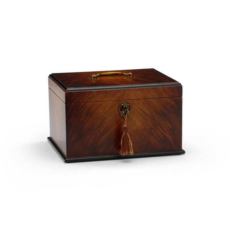 George II Tea Caddy Wood Brass Handles