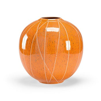 "Anderson Vase orange ""wool"" euroceramic"