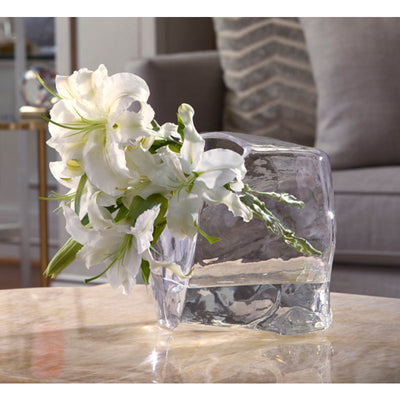 Ashley Clear Glass Accent Vase