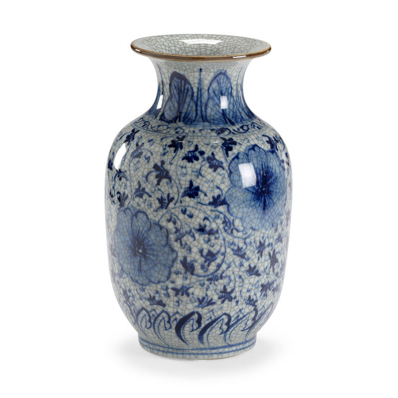 Drayton Handpainted Blue and White Porcelain Vase