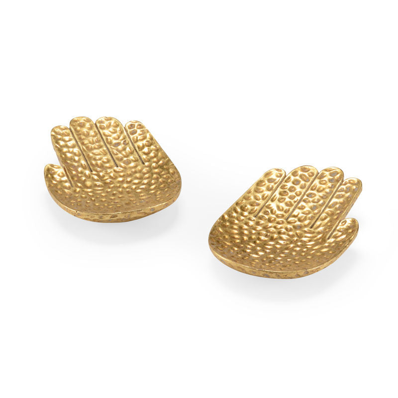 Small Gold Hands-Pair