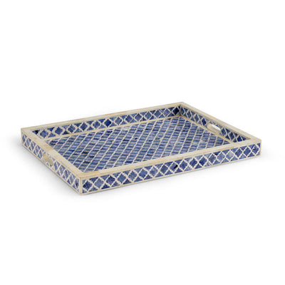 Newton Tray Blue White and Blue Bone Inlay