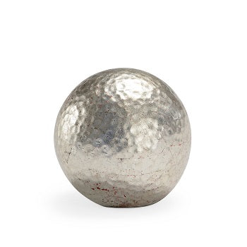 Hammered Small Silver Ball Chelsea House