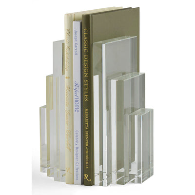 Clear Crystal Bookends
