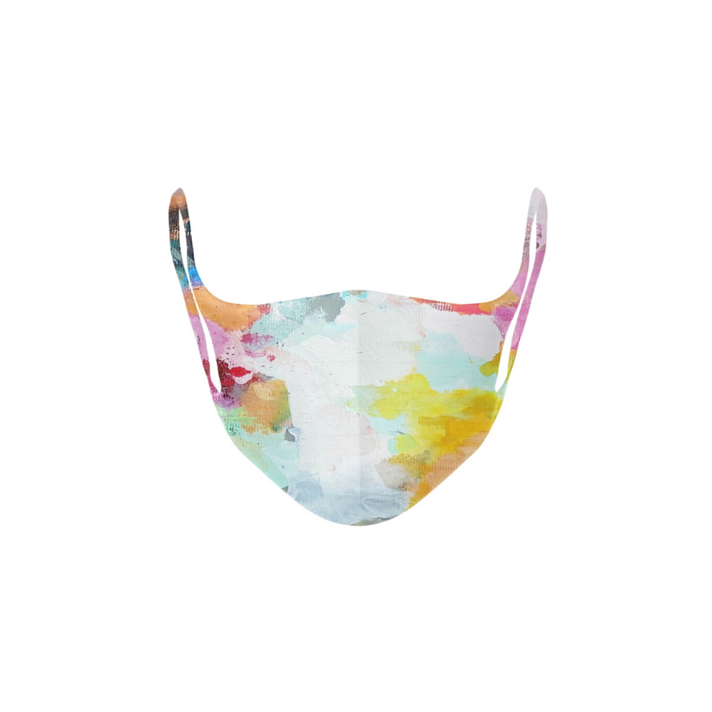 Flower Child Kid's Face Mask in a variety of soft colors from Laura Park Designs