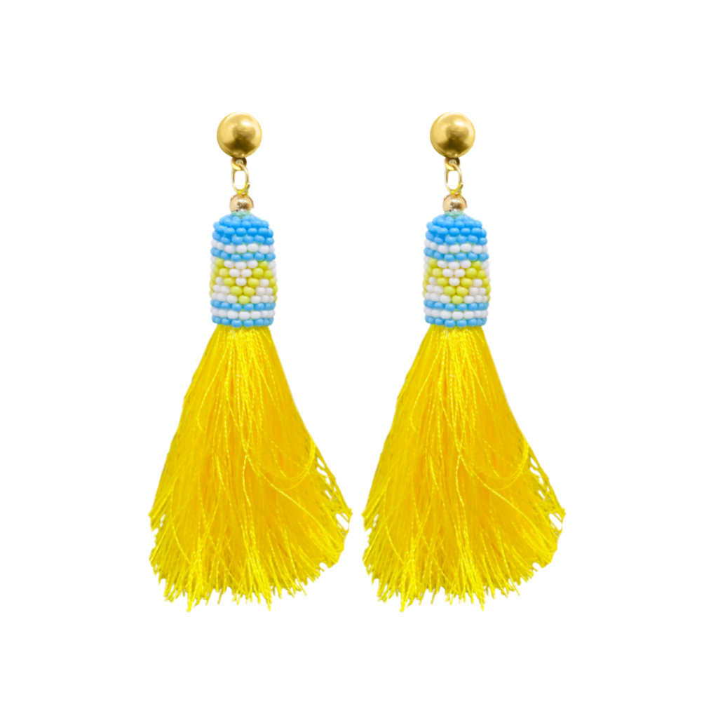 Lawson's Park Yellow Tassel Earrings from Laura Park Designs
