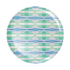 Flower Child Teal Blue Plate melamine patio dining plate from Laura Park Designs