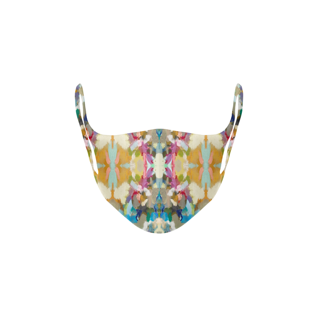 Indigo Girl Blue Kid's Face Mask in multi-colors from Laura Park Designs