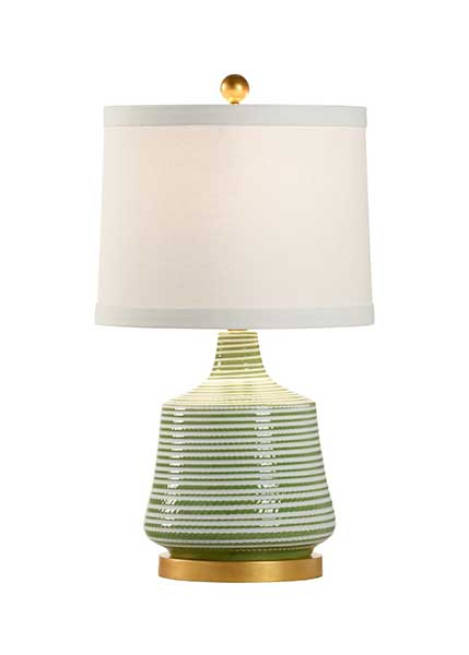 Beehive Lamp Green porcelain textured table lamp from Chelsea House