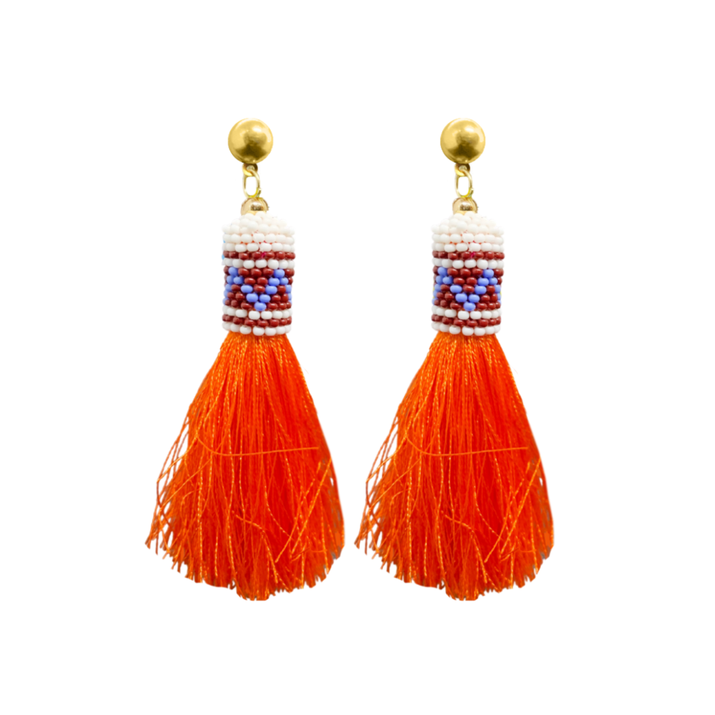 Carpe Diem Purple Tassel Earrings from Laura Park Designs