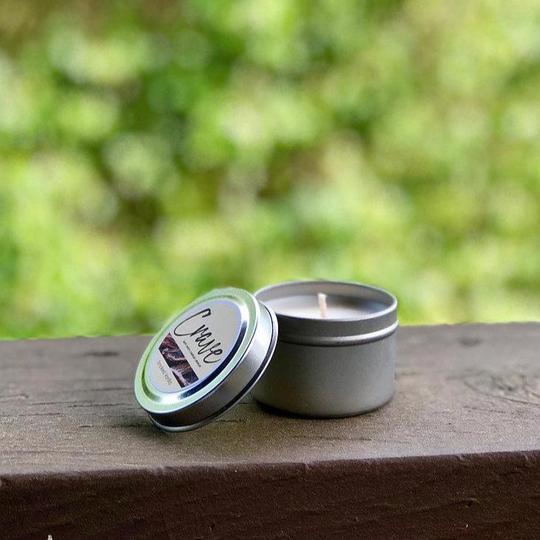Crave Candles Co. 2 oz. travel tin candle for on the go scent