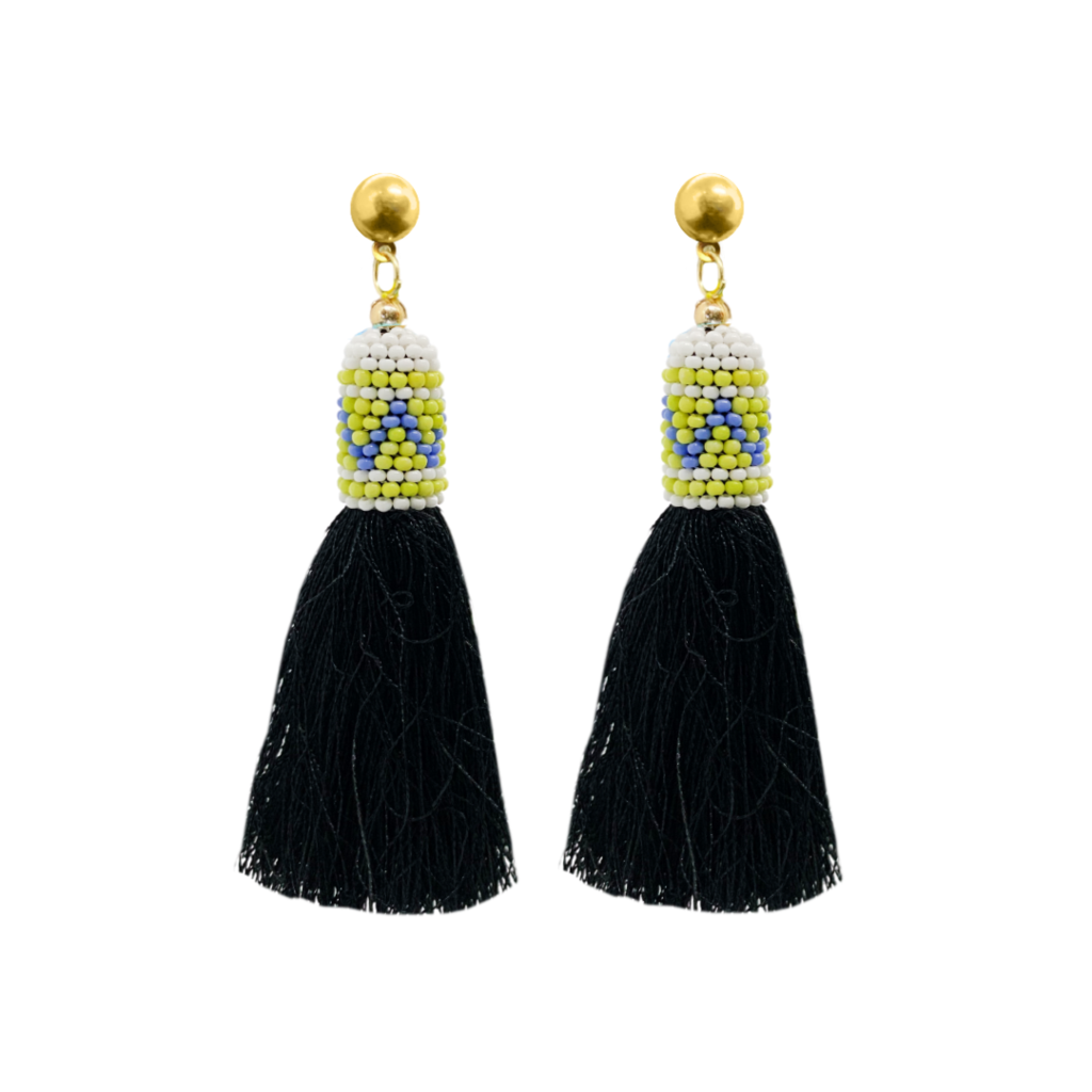 Lawson's Park Blue Tassel Earrings from Laura Park Designs