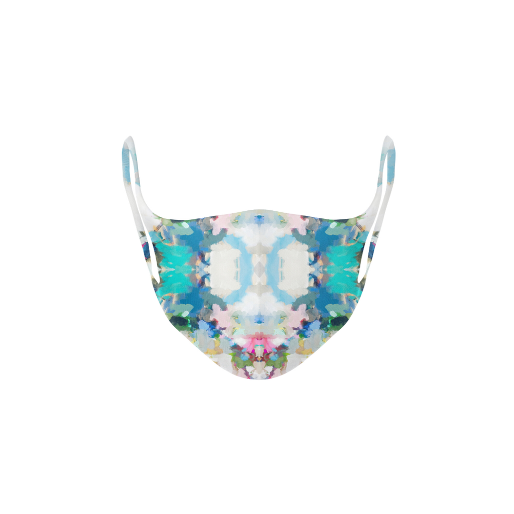 Park Avenue Kid's Face Mask in blues and greens from Laura Park Designs