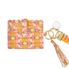 Flower Child Marigold Wristlet Wallet in bright pinks and orange from Laura Park Designs