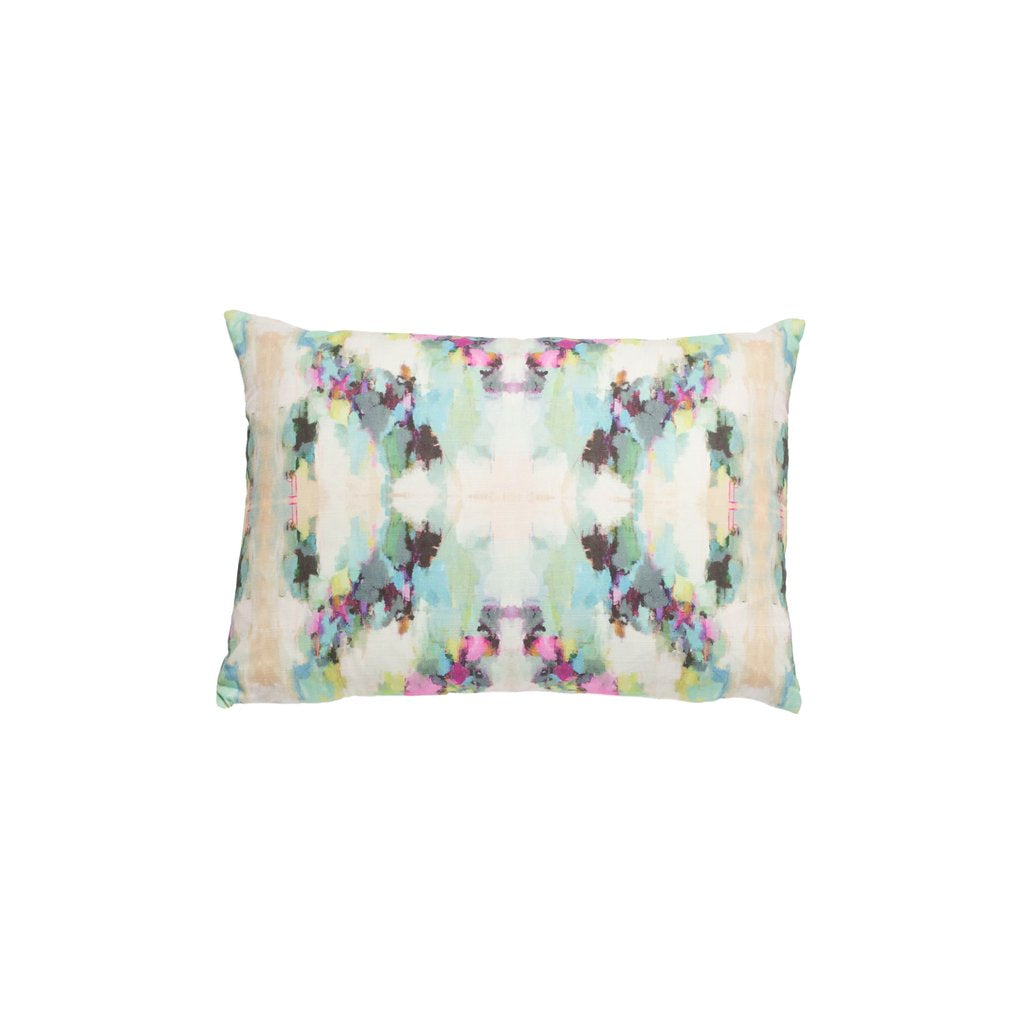 Alphabet Soup linen pillow from Laura Park Designs soft multi-color lumbar