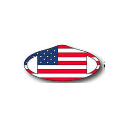 American Flag fashionable face covering stretches for snug fit