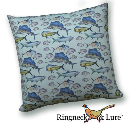 Atlantic Green Pillow from Ringneck & Lure