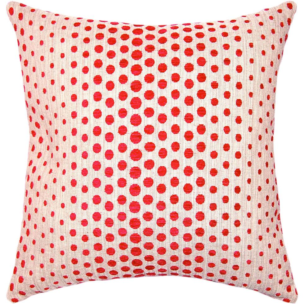 Berry Etc throw pillow adds a pop of red berries on off-white to perfectly contrast a modern setting