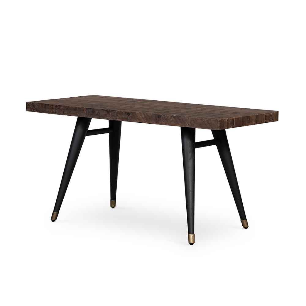 Bohemian Modern Desk from reclaimed wood with tapered iron legs from Four Hands