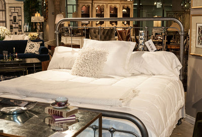 Wesley Allen Braden King Bed - Silver Bisque Showroom Display