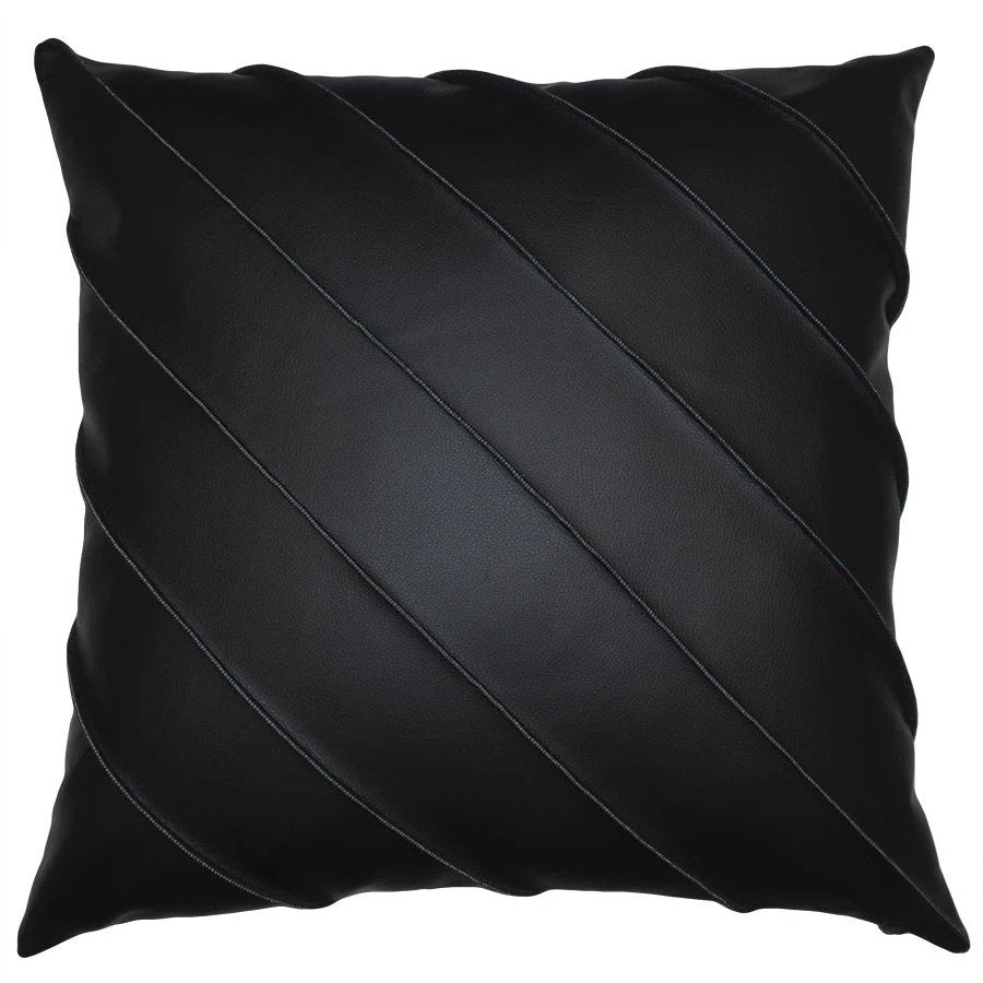 Briar Cal Pillow in Black Square Feathers