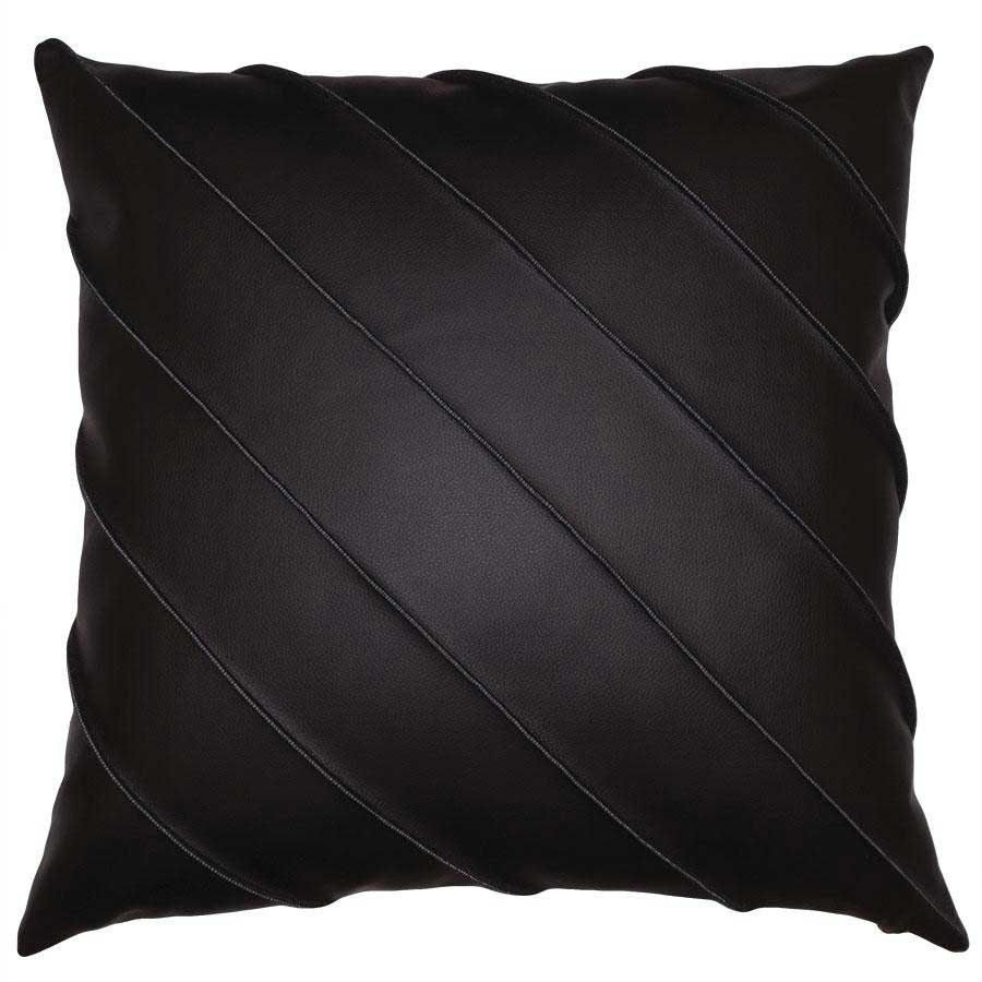 Birar Cal Pillow in Chocolate Square Feathers