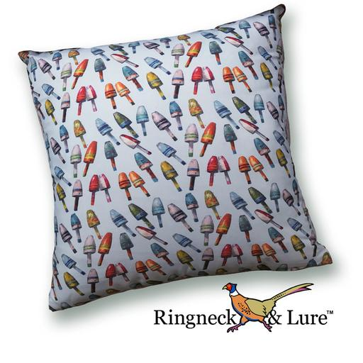 Buoys Sky Blue Pillow from Ringneck & Lure