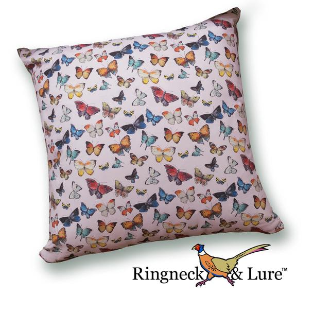 Butterflies Light Violet Pillow from Ringneck & Lure