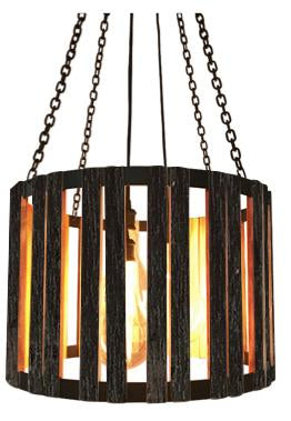 The Division Street Chandelier Carroll by Design Blackened with Black Cord