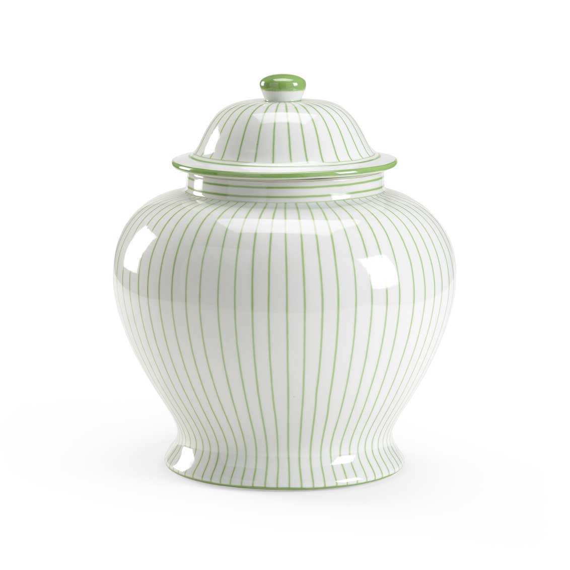 Castle Urn Green Porcelain Vase Ginger Jar Chelsea House