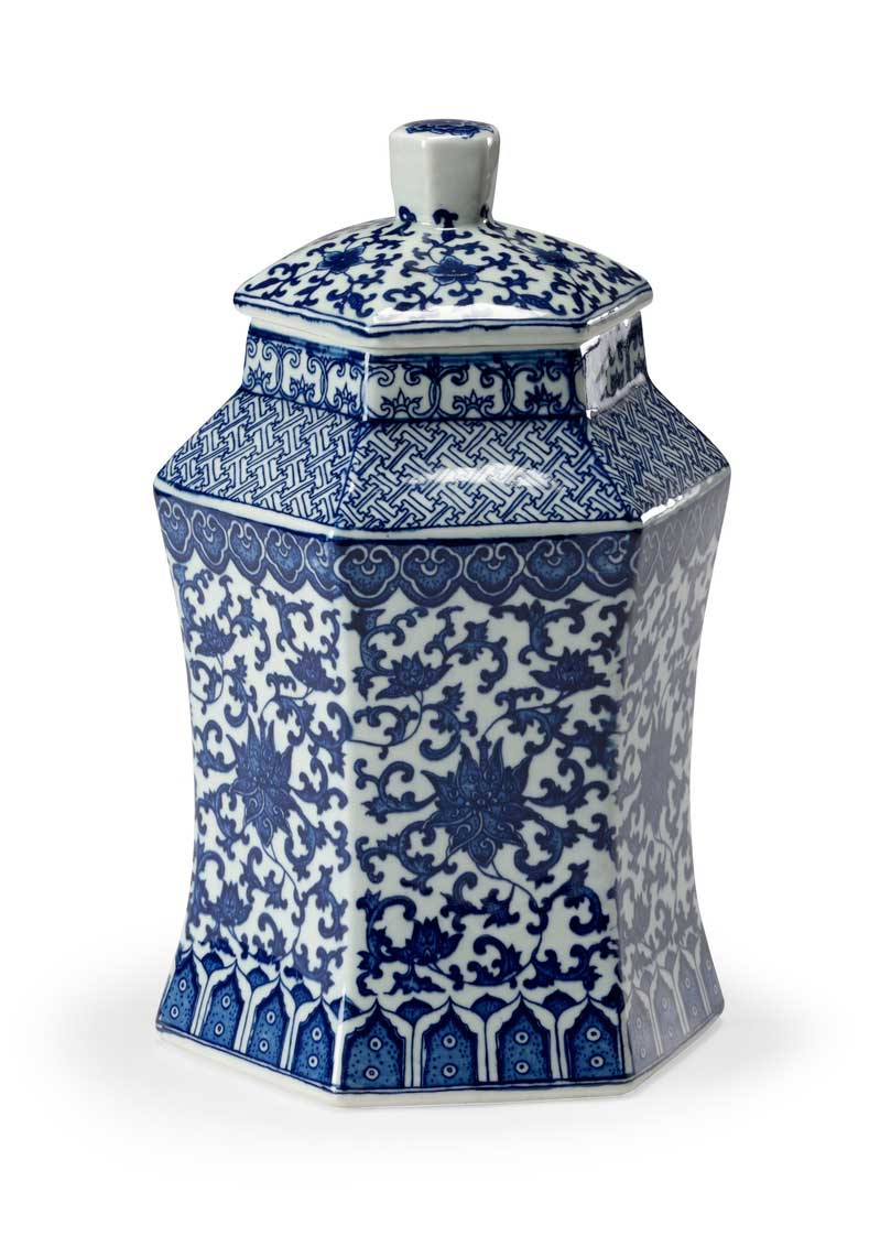 Tower Vase Porcelain Oriental Style