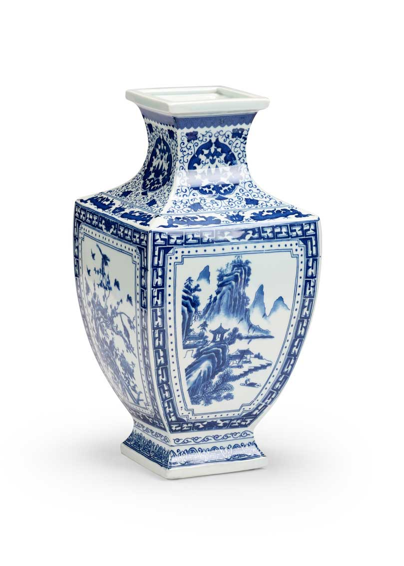 Ming Vase in Panel Blue and White Collection Chinoiserie Chelsea House Main Image