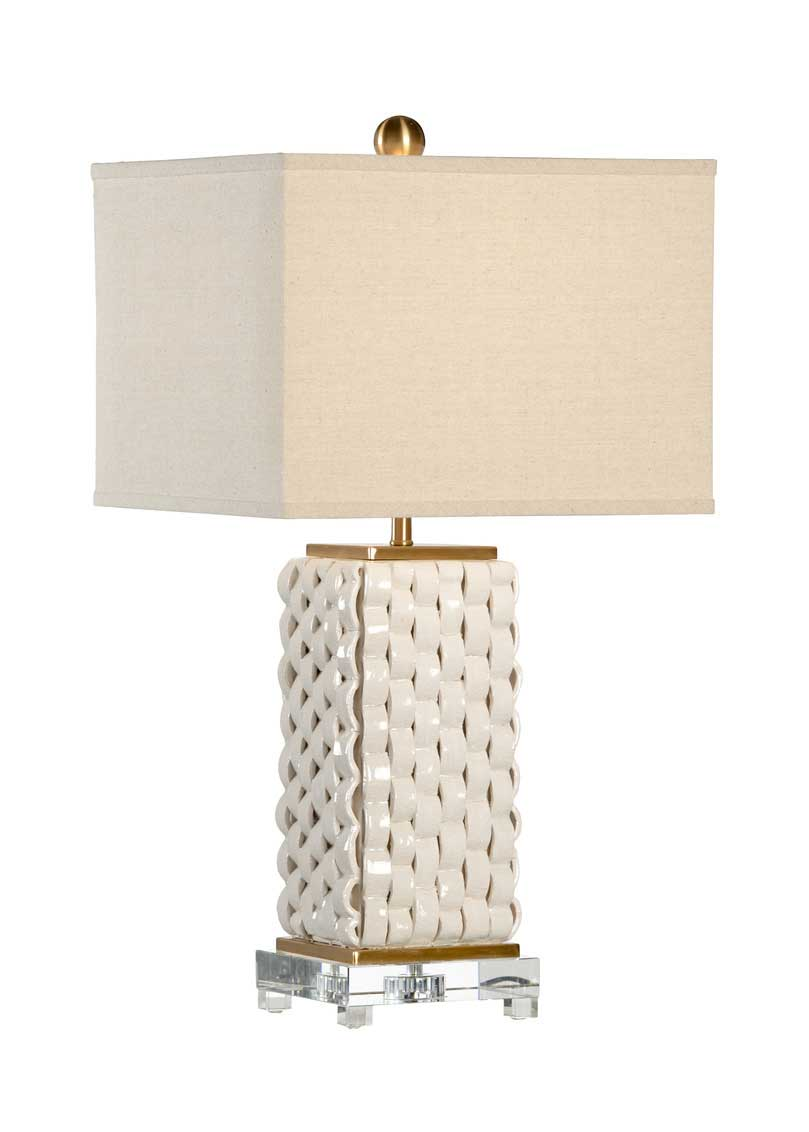 Woven Lamp in White by Bradshaw Orrell from Chelsea House
