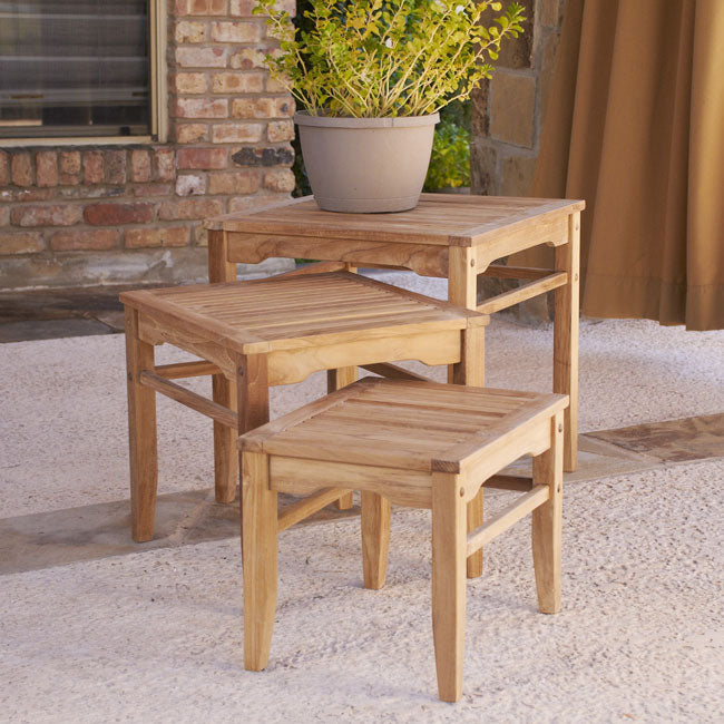 Teak Nesting Table 3PC