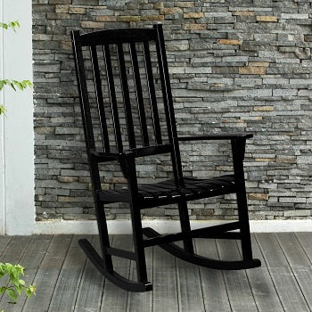 Hardwood Porch Rocker - Black
