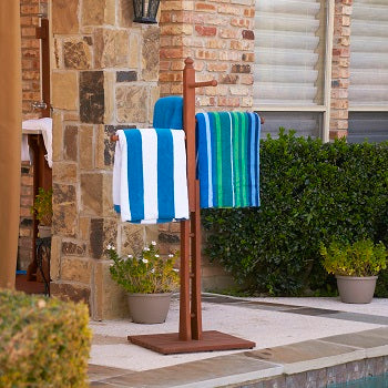 Hardwood Towel Rack Bath Accessory Southern Enterprises