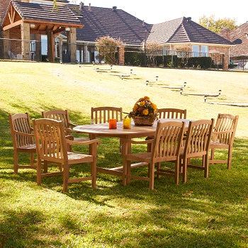 Teak Dining Set - 9 PC