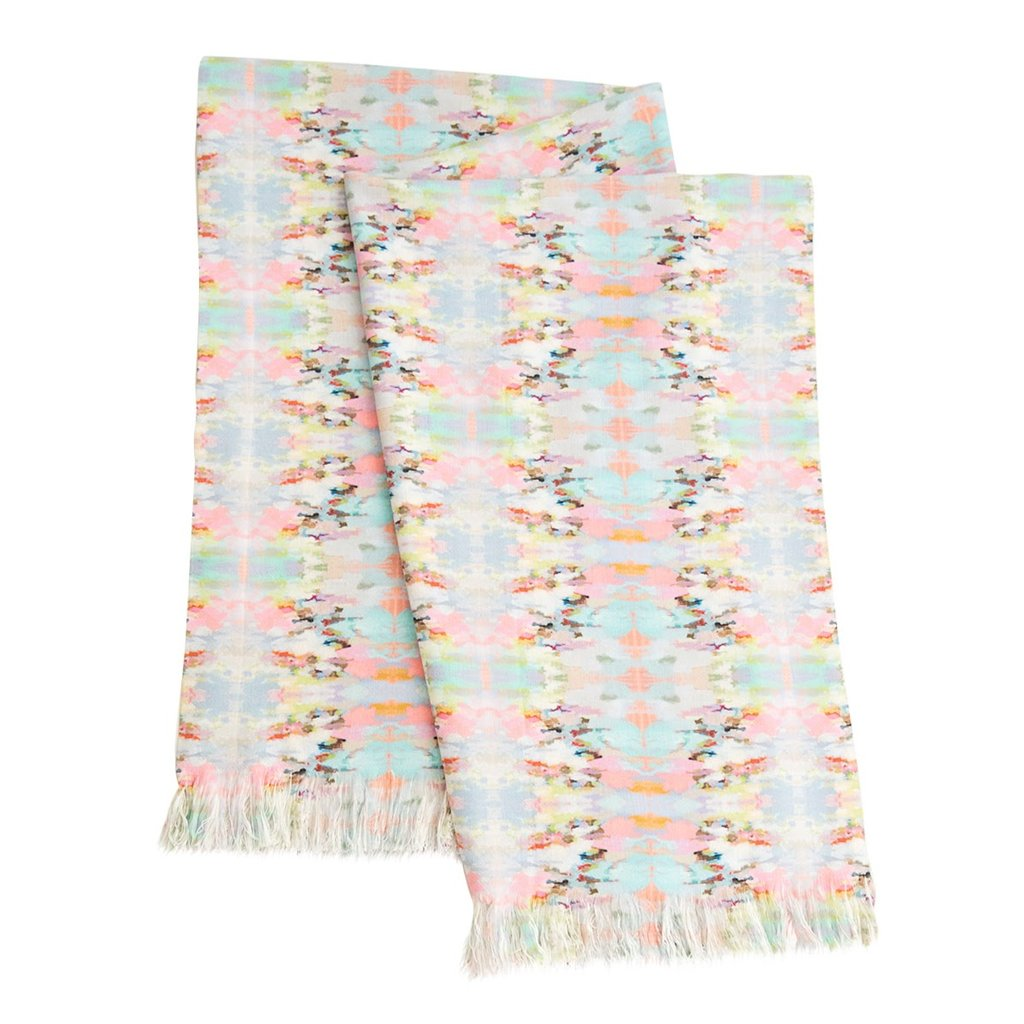 Brooks Avenue Throw Blanket in soft pinks and blues from Laura Park Designs