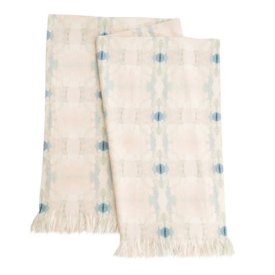 Butterfly Garden Pale Blue Throw Blanket in soft blues from Laura Park Designs