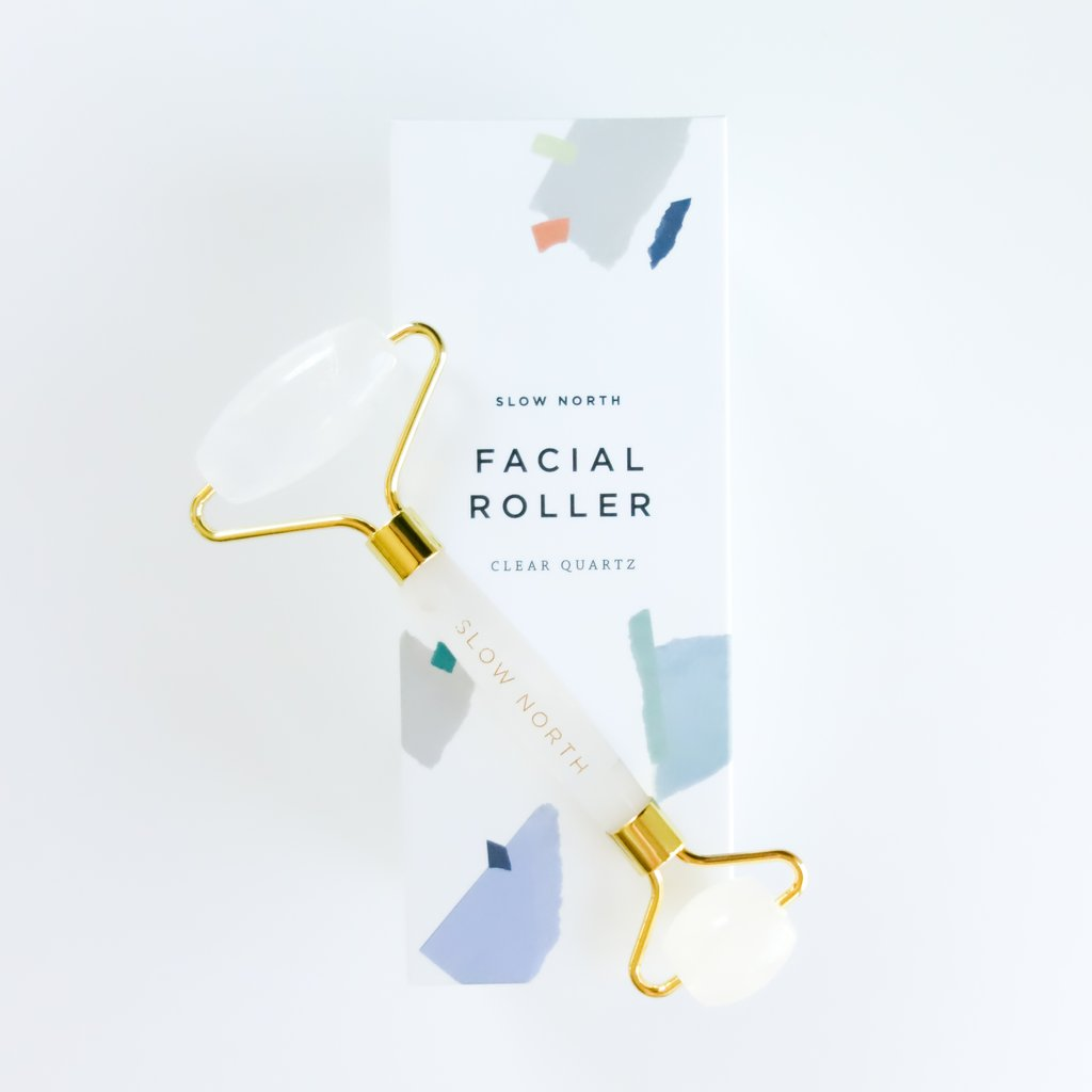 Facial roller clear quartz beauty ritual spa tool