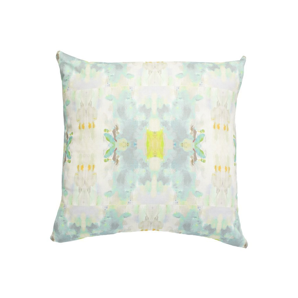 Coral Bay Green Sunbrella® fabric square pillow from Laura Park Designs