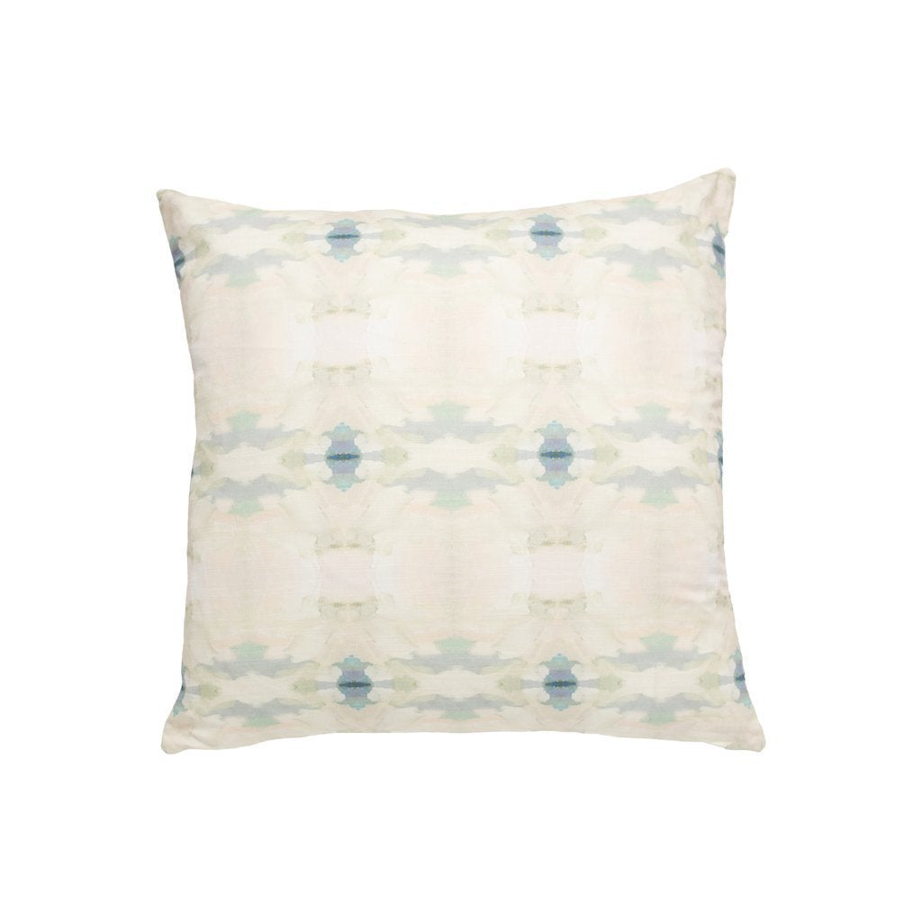 Coral Bay Pale Blue Sunbrella® fabric square pillow from Laura Park Designs