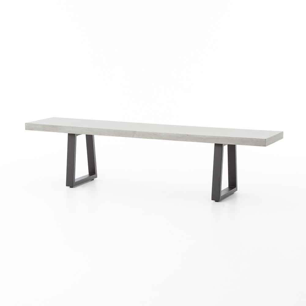 Outdoor and indoor poly-resin dining bench from Four Hands