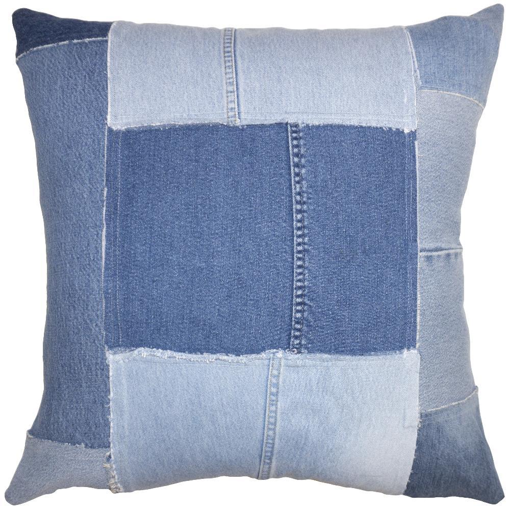 Denim Patches throw pillow is your favorite, most comfortable jeans as a pillow from Square Feathers